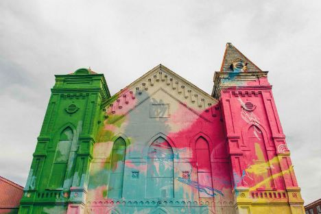 Abandoned Church Becomes Brilliant Urban Art Installation #Architecture #Details