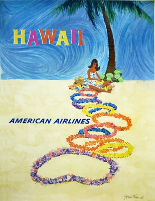 Hawaii • American Airlines #travel #poster