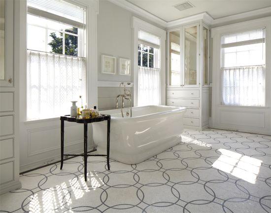 Bathroom floor tile - Walker Zanger Circolo Pattern