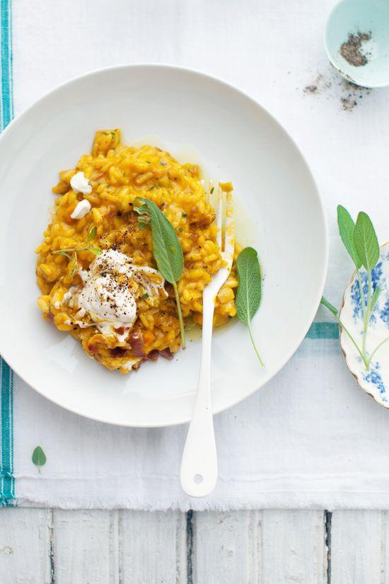 prosciutto, squash and sage risotto