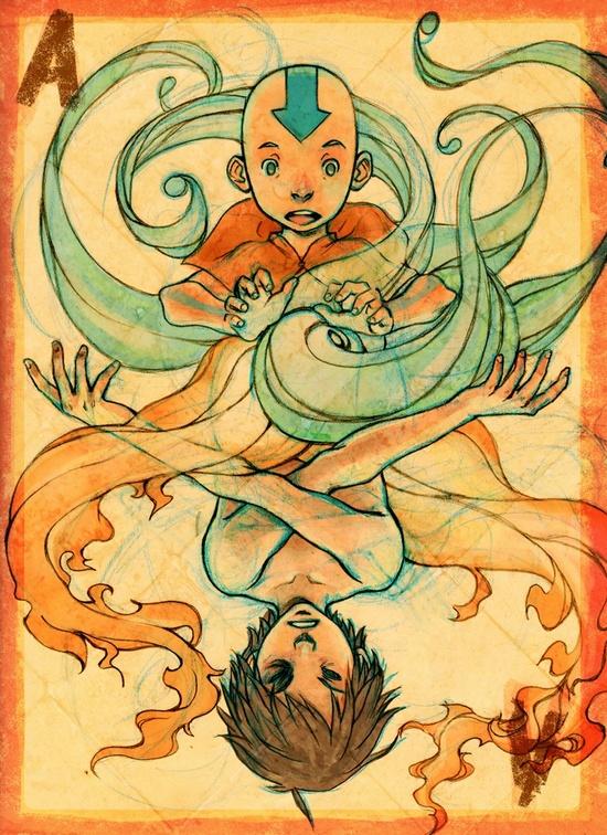 Aang and Zuko