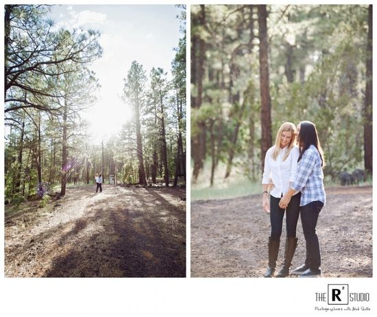 Camping themed Engagement session