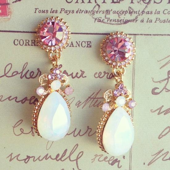 Love Pink Diamond Earrings