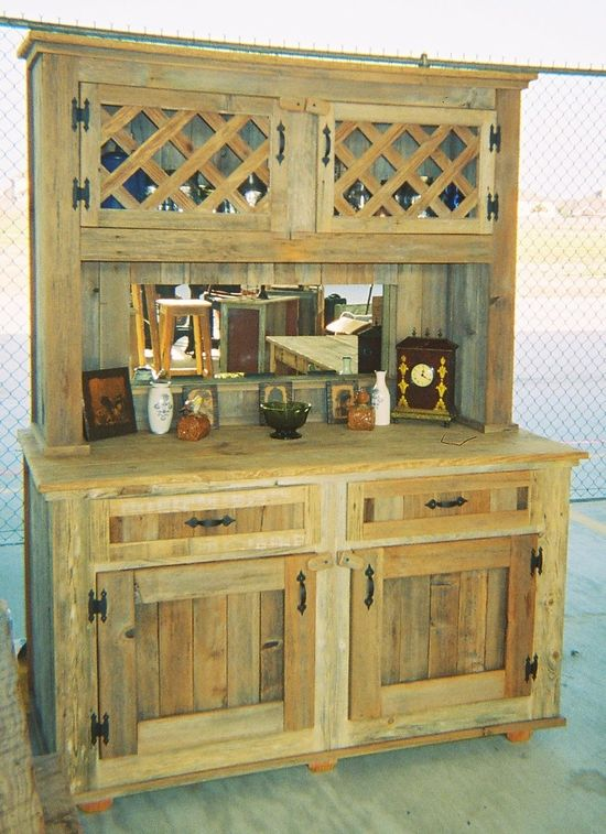 ***  Use pallets on the walls.   Repurposed furniture