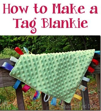 How to Make a Tag Blankie!  These make great Baby Shower gifts, too! #sewing #baby #blankets