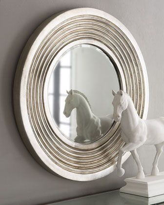 Silver Deco Mirror at Neiman Marcus.  I have this horse in matte black.