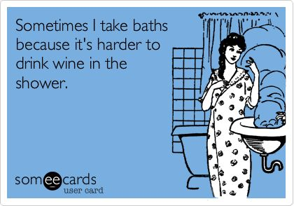 nothing like a bath and a glass of wine :)