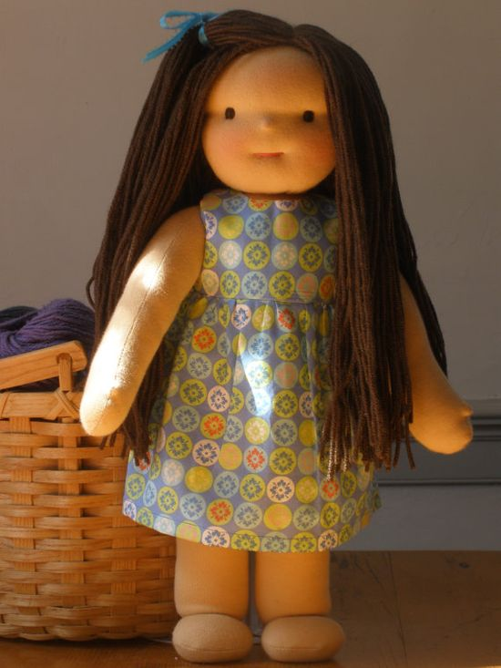 Waldorf Doll dress  16 summer clothes for dolls by hazeldoll, $15.00