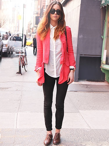 Street Style - Coral  #ss13 #coral