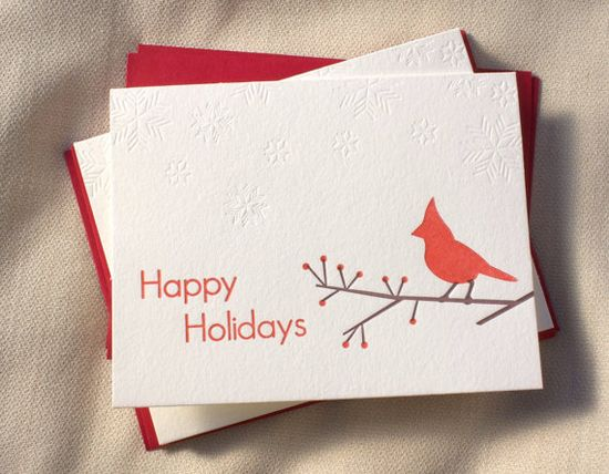 #Letterpress #Holiday or #Christmas #Card