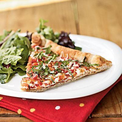 Tomato-Mozzarella Pizza
