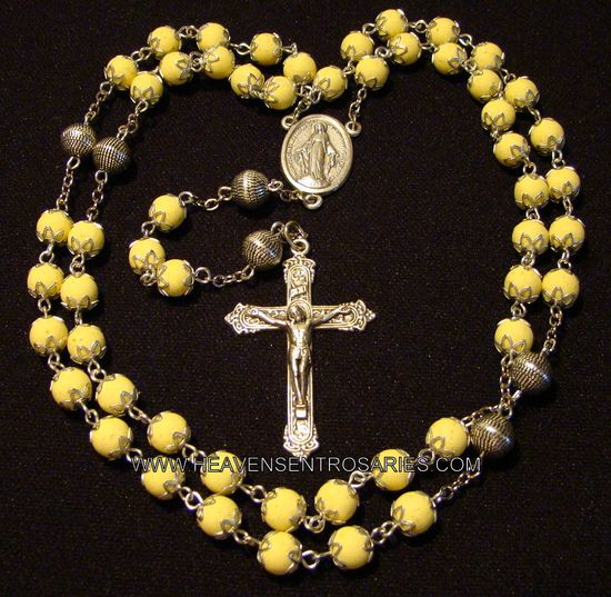 rosaries from flowers