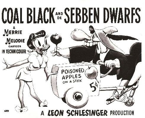 """Coal Black and de Sebben Dwarfs"", A Merrie Melodie Cartoon, Warner Bros, 1943"