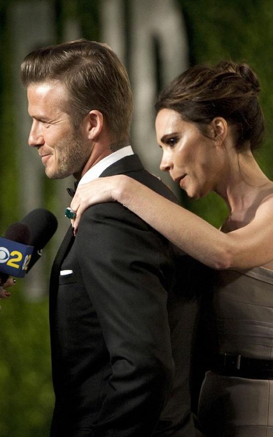 Victoria Beckham and David Beckham @ Oscar Party