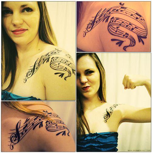 Beautiful music tattoo
