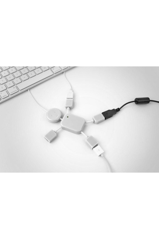 USB Hubman White