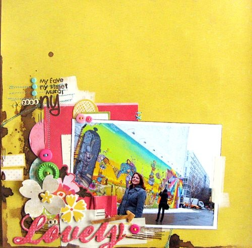 #papercraft #scrapbook #layout Michelle Clement provided some much needed yellow inspiration