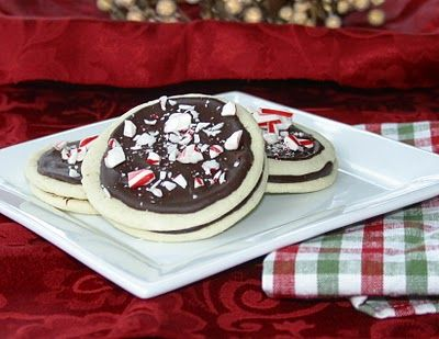 Peppermint-Chocolate Sandwich Cookies