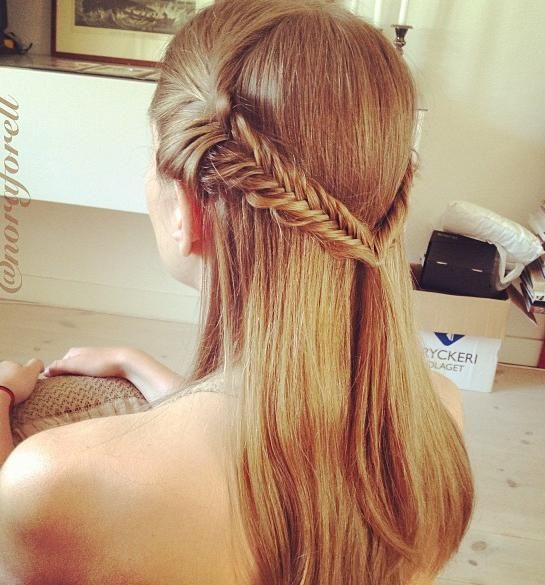 Two Fishtails & Ponytail. i want to learn how to do this!