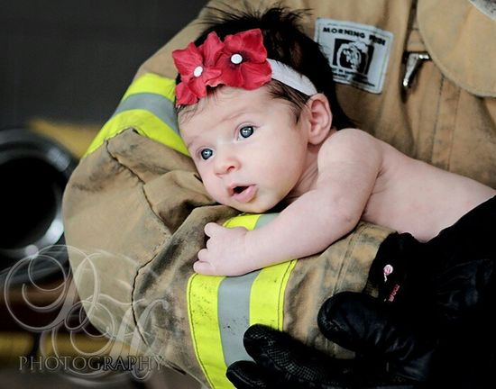 For my firefighter hubby and my baby girl! ?