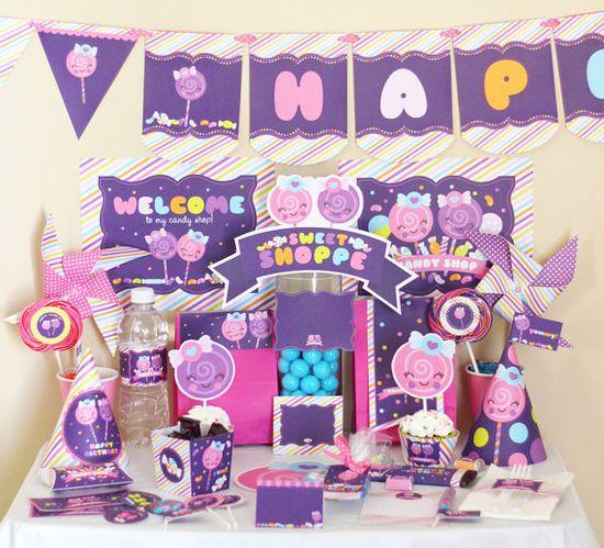 Candy Sweet Shop Shoppe Kawaii Birthday by stockberrystudio, $10.00