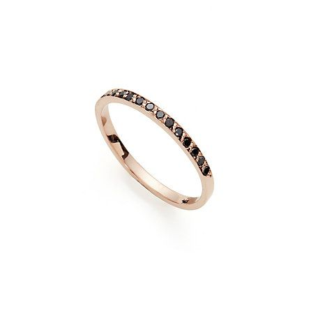 black diamond band...this would go so good with the chocolate diamond necklace Terry gave me last birthday
