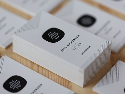 Simple, letterpressed business cards
