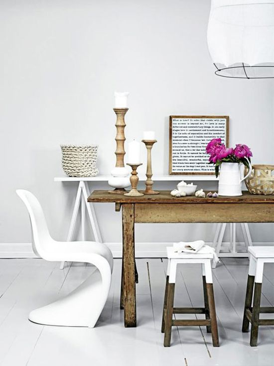 Paint Dipped Furniture. Panton S Chair. Farmhouse table