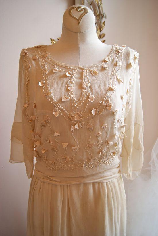 Wedding Dress // 20s Wedding Dress // Vintage by xtabayvintage, $498.00