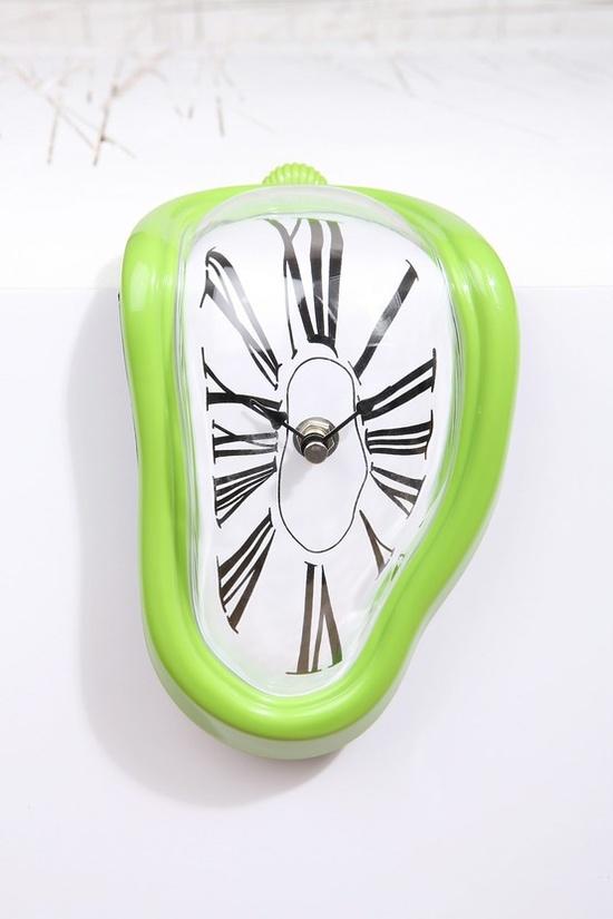 Green Melting Clock