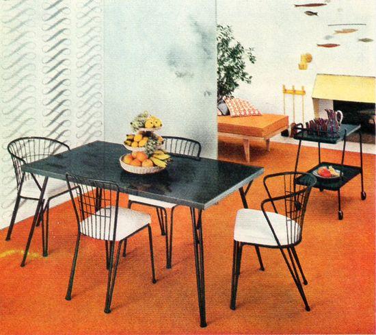 1954 Daystrom Dinette. #vintage #1950s #kitchen