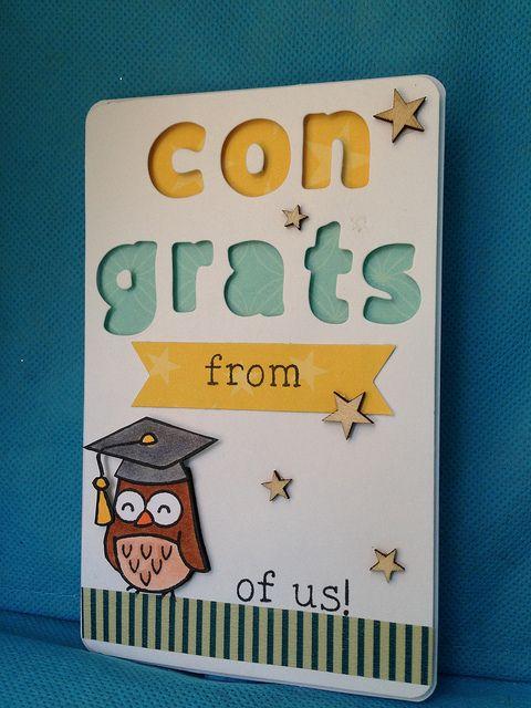 Graduation: Congrats from owl of us! by WorldofCreativity, via Flickr