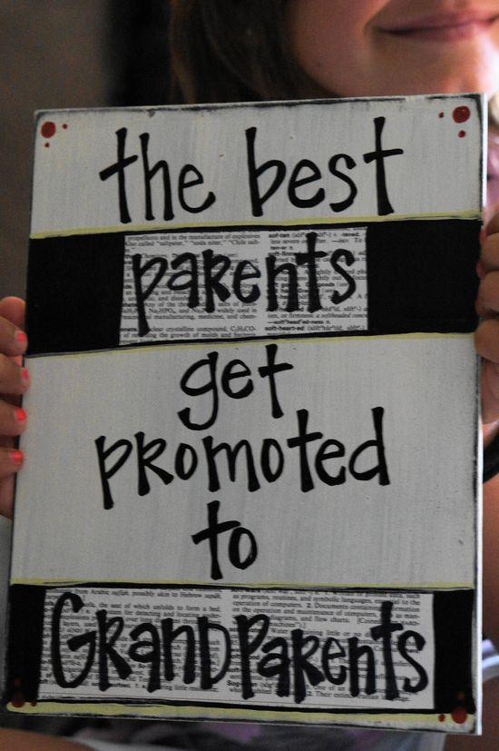 Cute card idea for pregnancy announcement to your parents