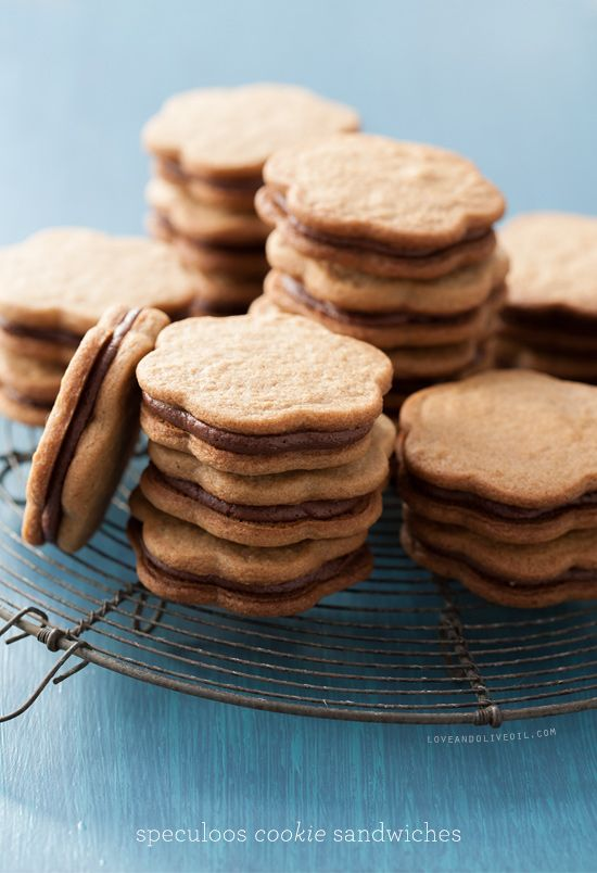 Biscoff Cut-out Cookies + Cookie Sandwiches with Creamy Chocolate Filling
