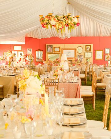 a very lovely wedding tent reception