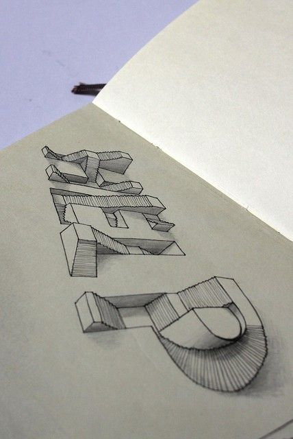 """""""3D"""" drawing by Lex Wilson"""