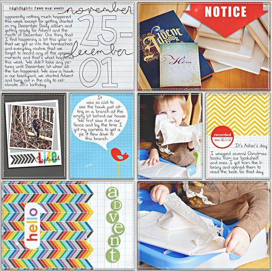 Project Life - Week 48 - Left - Scrapbook.com
