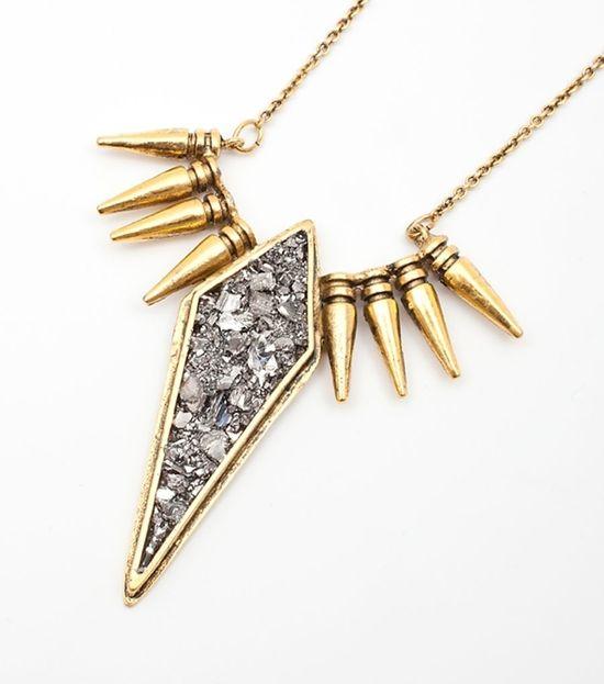 bullet style spikes & crystal looking metal!