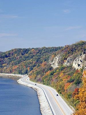 Great River Road  Mississippi River, Illinois   Across the river from Saint Louis