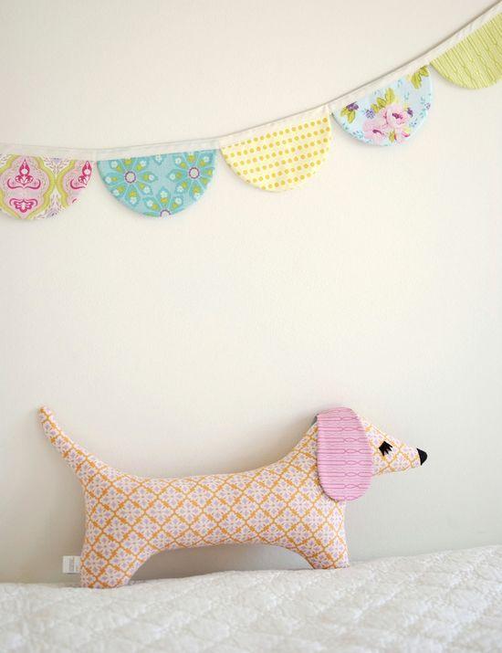 Doxie Stuffed Animal Sewing Pattern Tutorial - PDF Sewing Pattern Milo and Moxie Dachshund Softies