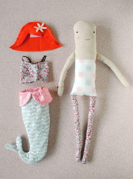 Milly The Mermaid Doll Pattern. $11.00, via Etsy.
