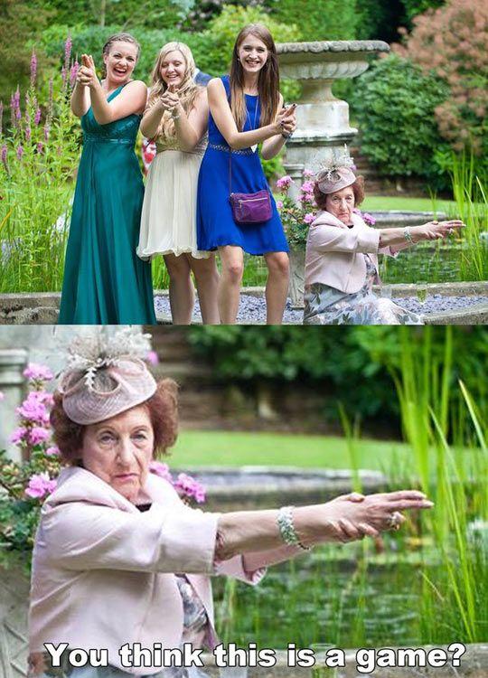 Grandma doesn't mess around.