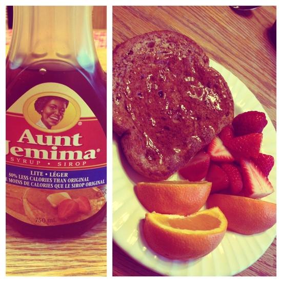 heathy fruit & french toast