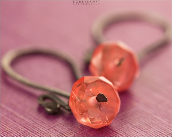 Sterling Silver Faceted Pink Quartz Earrings - Jewelry by Jason Stroud.