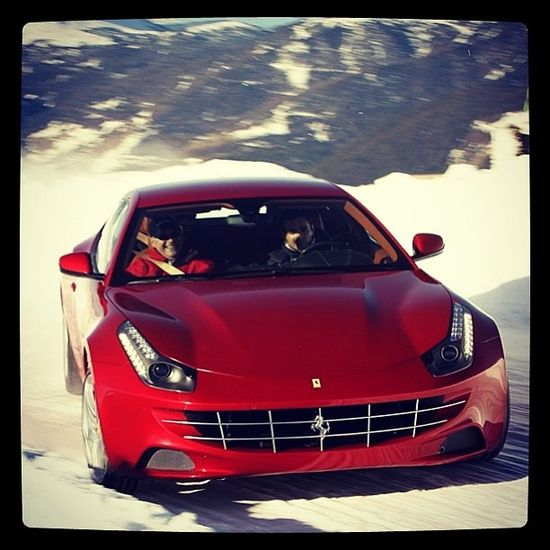 Cool Ferrari FF drifting in the #sport cars #ferrari vs lamborghini