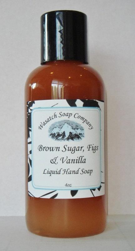 Brown Sugar Figs & Vanilla Handmade Liquid Soap ALL NATURAL