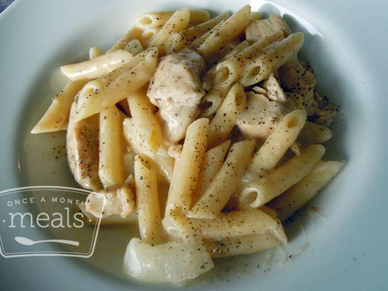 Chicken Gloria Pasta recipe- Dinner #freezercooking #pasta #menuplanning