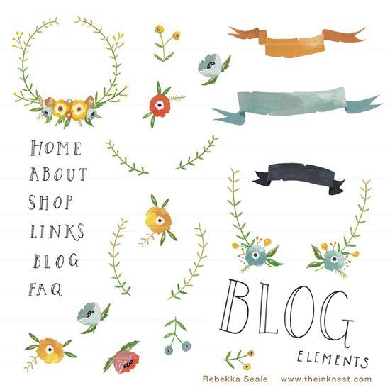 blog elements by Rebekka Seale