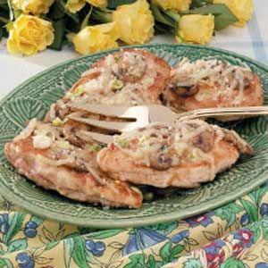 mushroom chicken, I use Portabello  mushrooms always a hit!