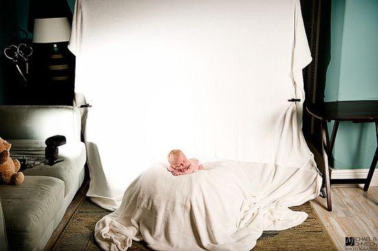 lots of great newborn photo shoot pullbacks and setups - www.flickr.com/...